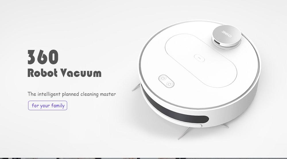 360 S6 robot porszívó automatikus távvezérlő tisztító robot-fehér