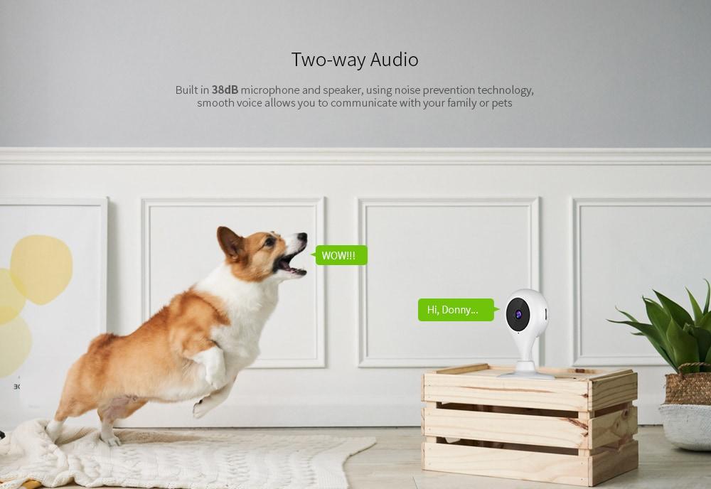 360 Éjszakai látás / mozgásérzékelés / kétirányú audio kicsi vízcsepp 1080P 360 fokos intelligens kamera - fehér