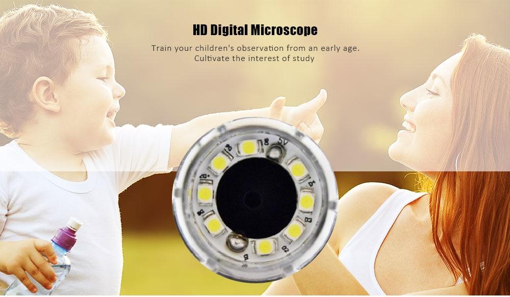 500X digitális mikroszkóp a mobiltelefon számítógépes mérőeszköz-méréséhez 500X