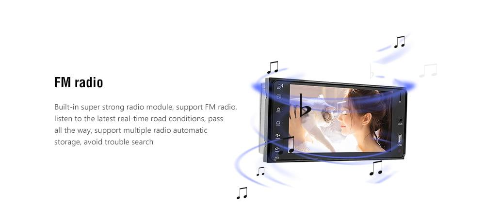 Bluetooth / FM rádió / Hátrameneti kép 7 hüvelykes autó MP5 Toyota Corolla - fekete