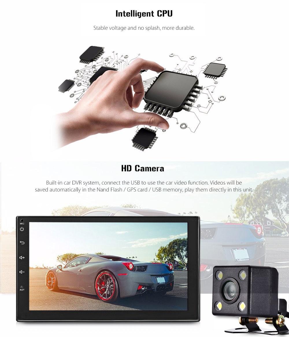 Univerzális Bluetooth GPS WiFi 7 hüvelykes kapacitív érintőképernyővel