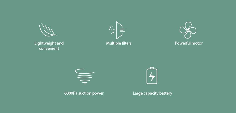 8030 Car Home Kettős felhasználású kézi vezeték nélküli porszívó jellemzői