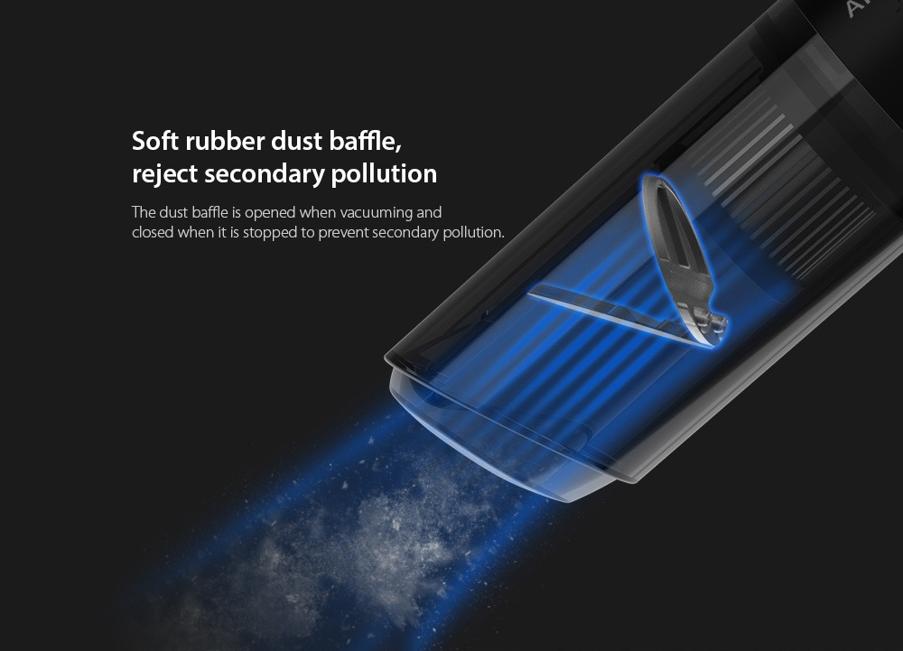 8030 Car Home Dual-use Handheld Wireless Vacuum Cleaner Soft rubber dust baffle