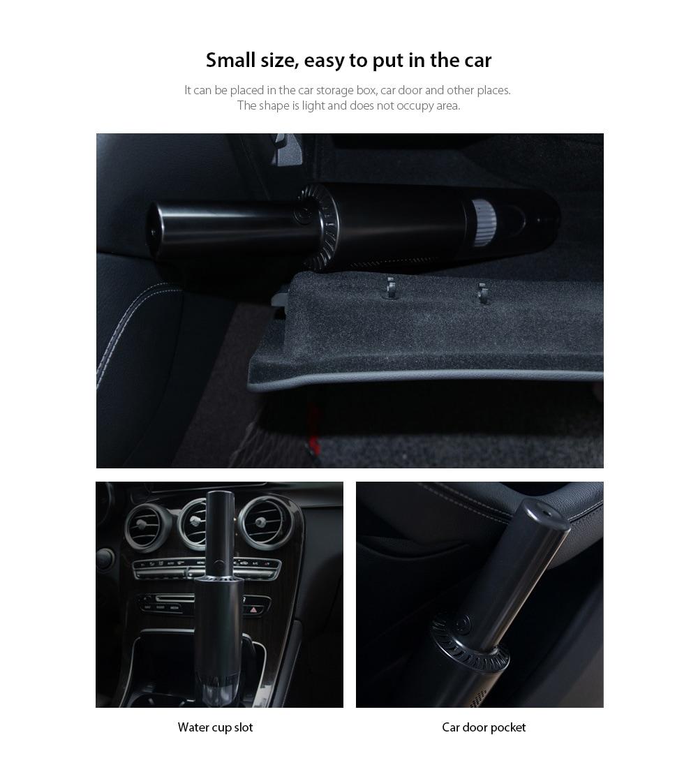8030 Car Home Kettős felhasználású kézi vezeték nélküli porszívó Kis méretű, könnyen behelyezhető az autóba