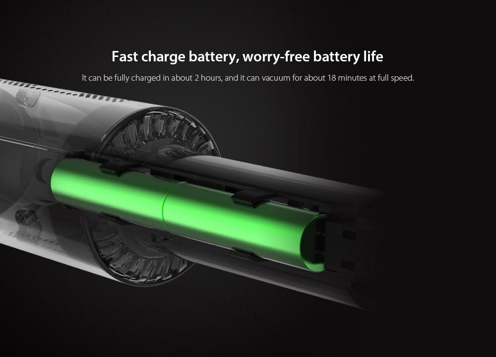 8030 Car Home Kettős felhasználású kézi vezeték nélküli porszívó Gyorsan tölthető akkumulátor