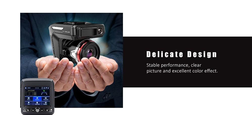 9900 2,4 hüvelykes 2 in 1 autós DVR kamera HD 1080P videó felvevő Dash Cam - természetes fekete