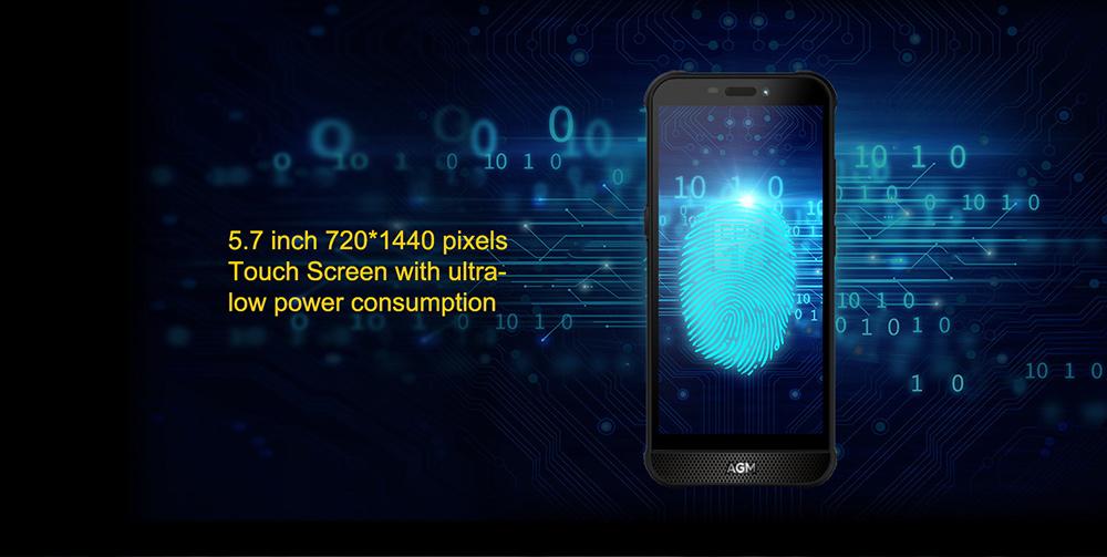 AGM A10 Rugged 4G Smartphone 5.7 inch NFC Global Version - Black 4GB+64GB