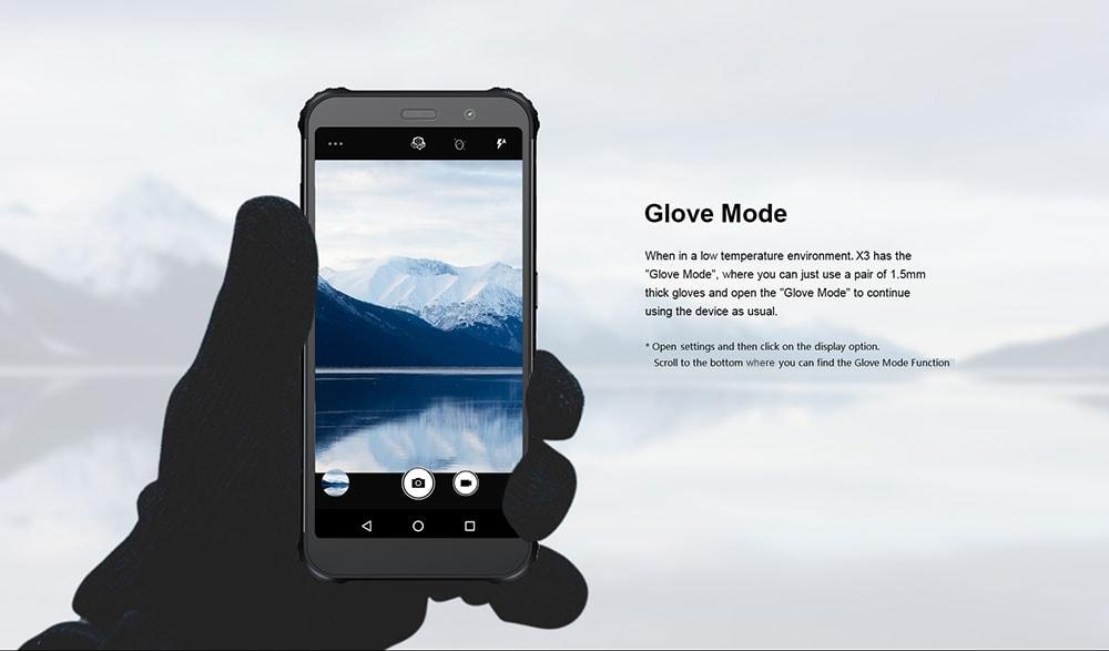 AGM X3 4G Phablet 5.99 inch Android 8.1 Snapdragon 845 Octa Core 8GB RAM 64GB ROM 24.0MP + 12.0MP AI Rear Camera Fingerprint Sensor 4100mAh Built-in- Black