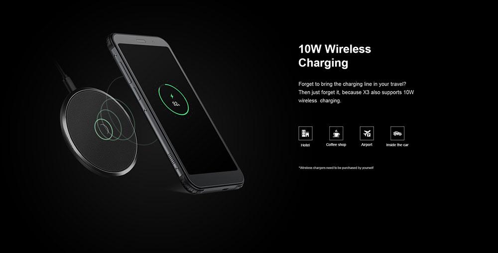 AGM X3 4G Phablet 5.99 inch Android 8.1 Snapdragon 845 Octa Core 8GB RAM 128GB ROM 24.0MP + 12.0MP AI Rear Camera Fingerprint Sensor 4100mAh Built-in- Black