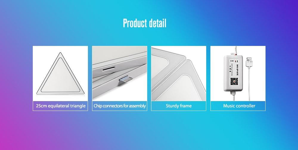 Alfawise A9 PRO Smart Glitter Puzzle - Fehér EU Plug / 9PCS / Set
