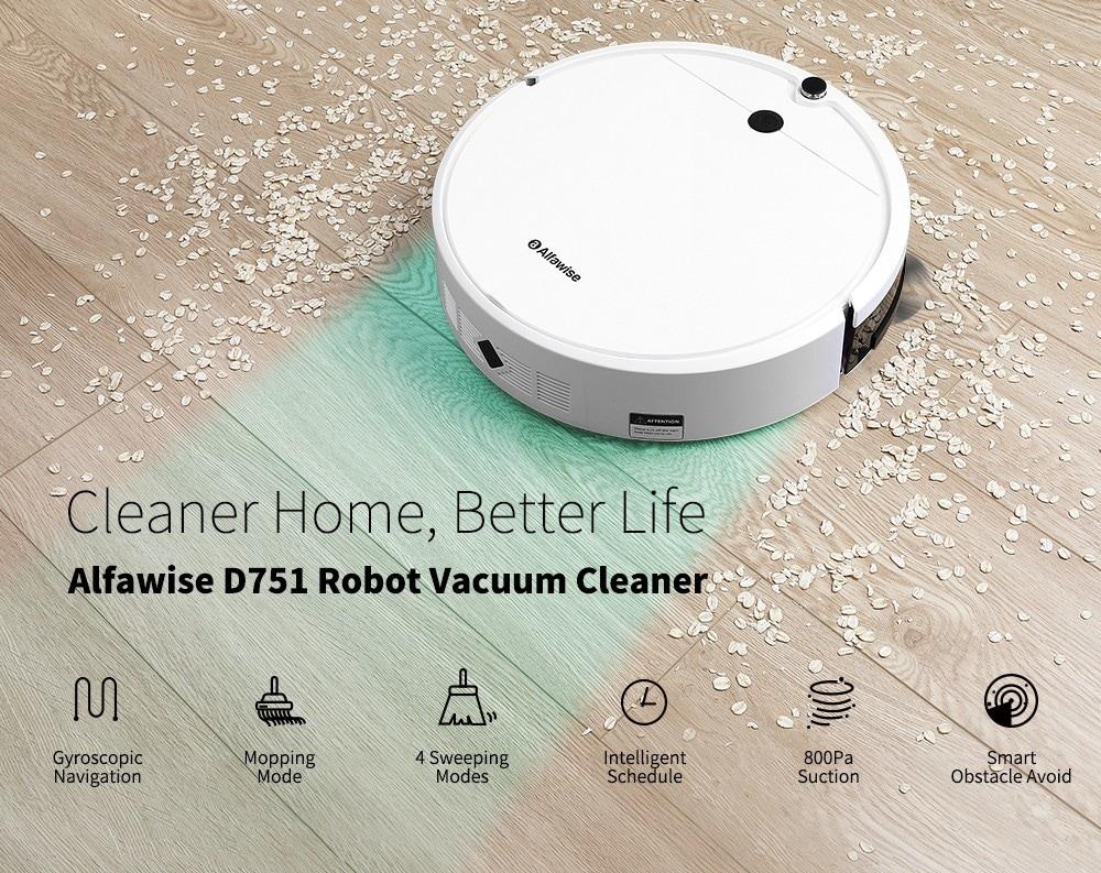 Alfawise D751 robot porszívó-fehér EU dugó