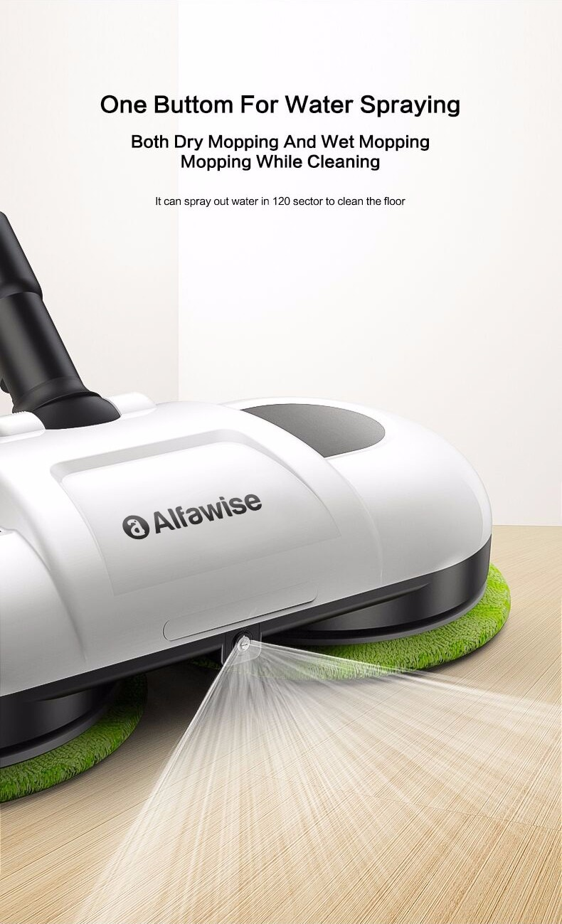 Alfawise F528A nedves és száraz újratölthetõ robot a keményfa padlók tisztítására - fehér