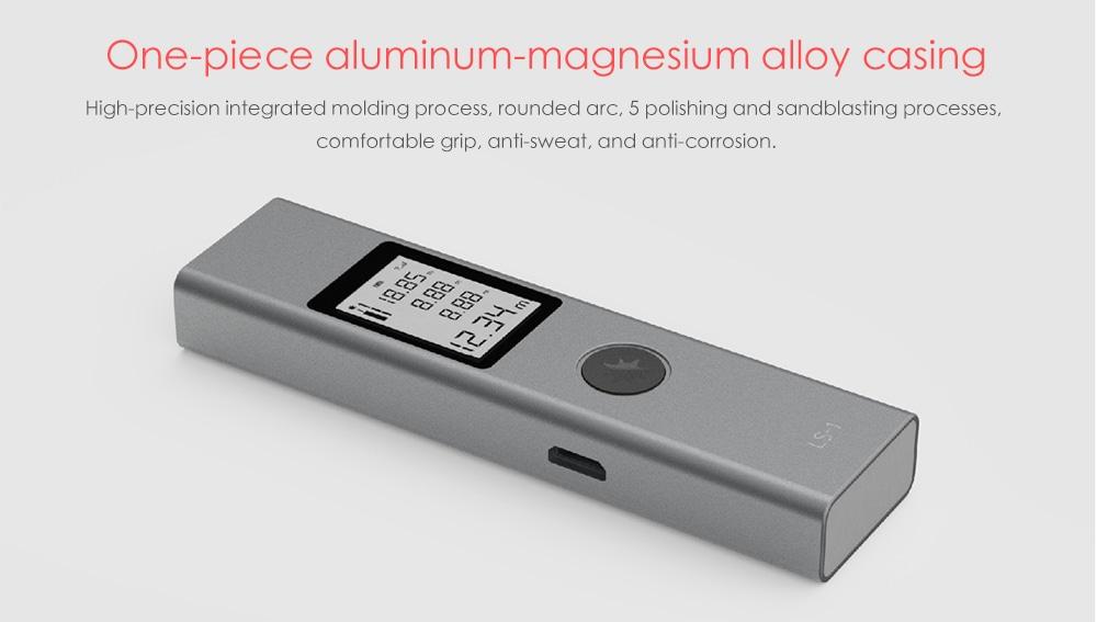 Alfawise LS - 1 hordozható lézeres távolságmérő - platina