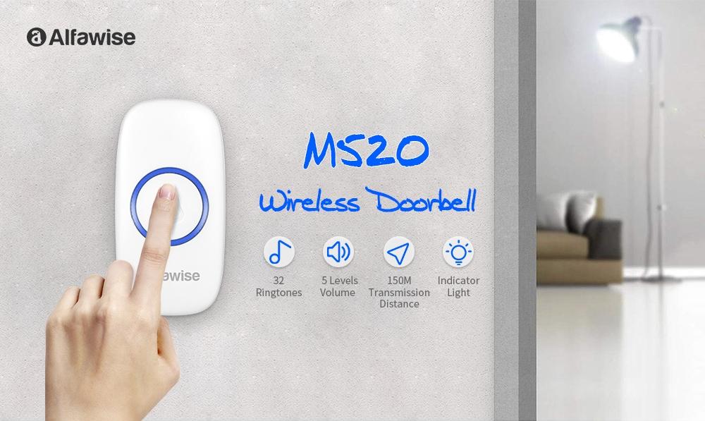 Alfawise M520 vezeték nélküli ajtócsengő-fehér