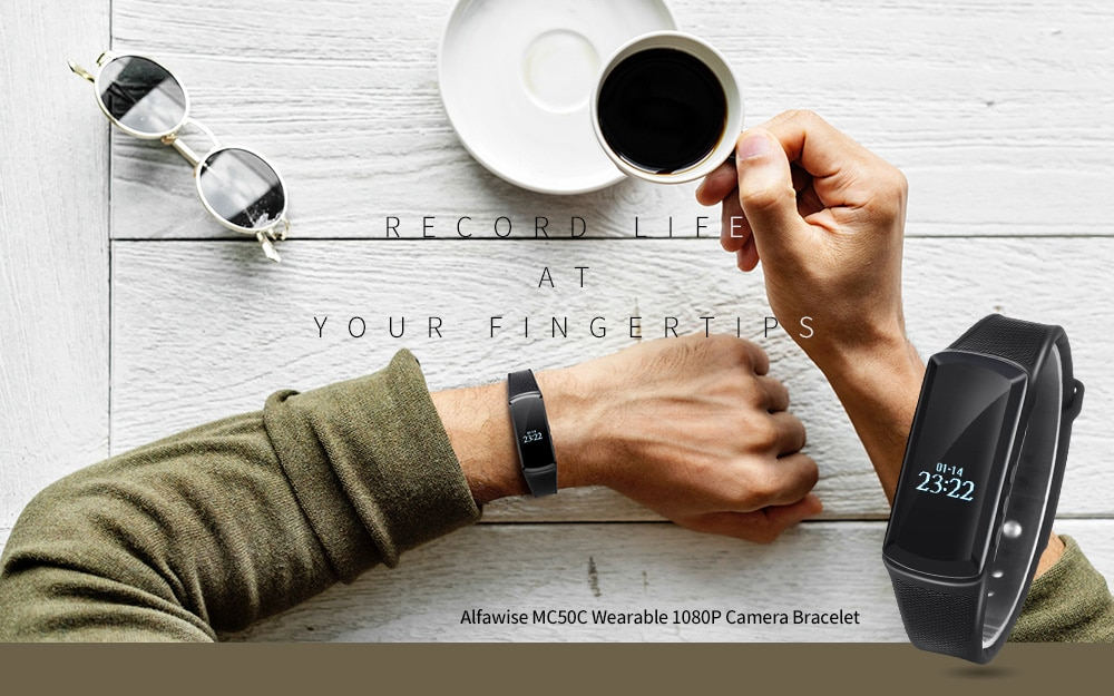 Alfawise MC50C 1080P karkötő kamera - fekete