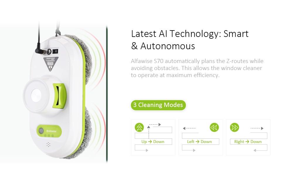 Alfawise S70 ablaktisztító tisztító robot - fehér