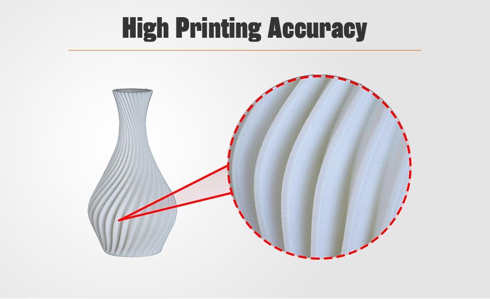 Alfawise U10 3D Printer 40 x 40 x 50cm Large Printing Aluminum Alloy Frame DIY Kit - Black EU Plug