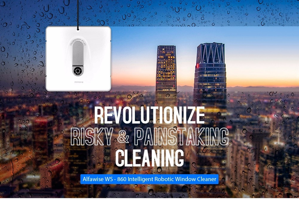 Alfawise WS-860 intelligens ablak tisztító - fehér