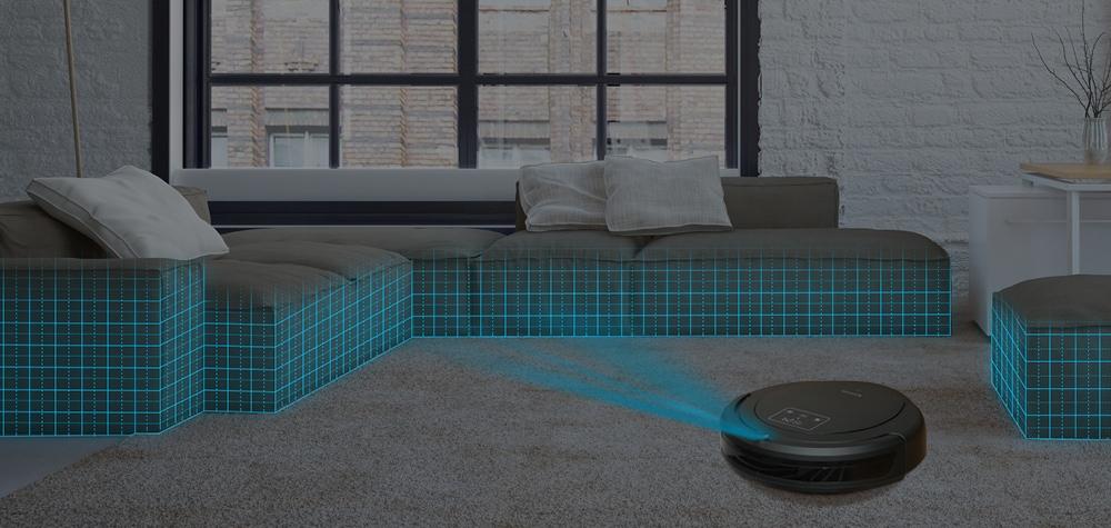 Alfawise ZK8077 Robot porszívó Virtuális blokkoló érintőképernyő - szürke EU csatlakozó