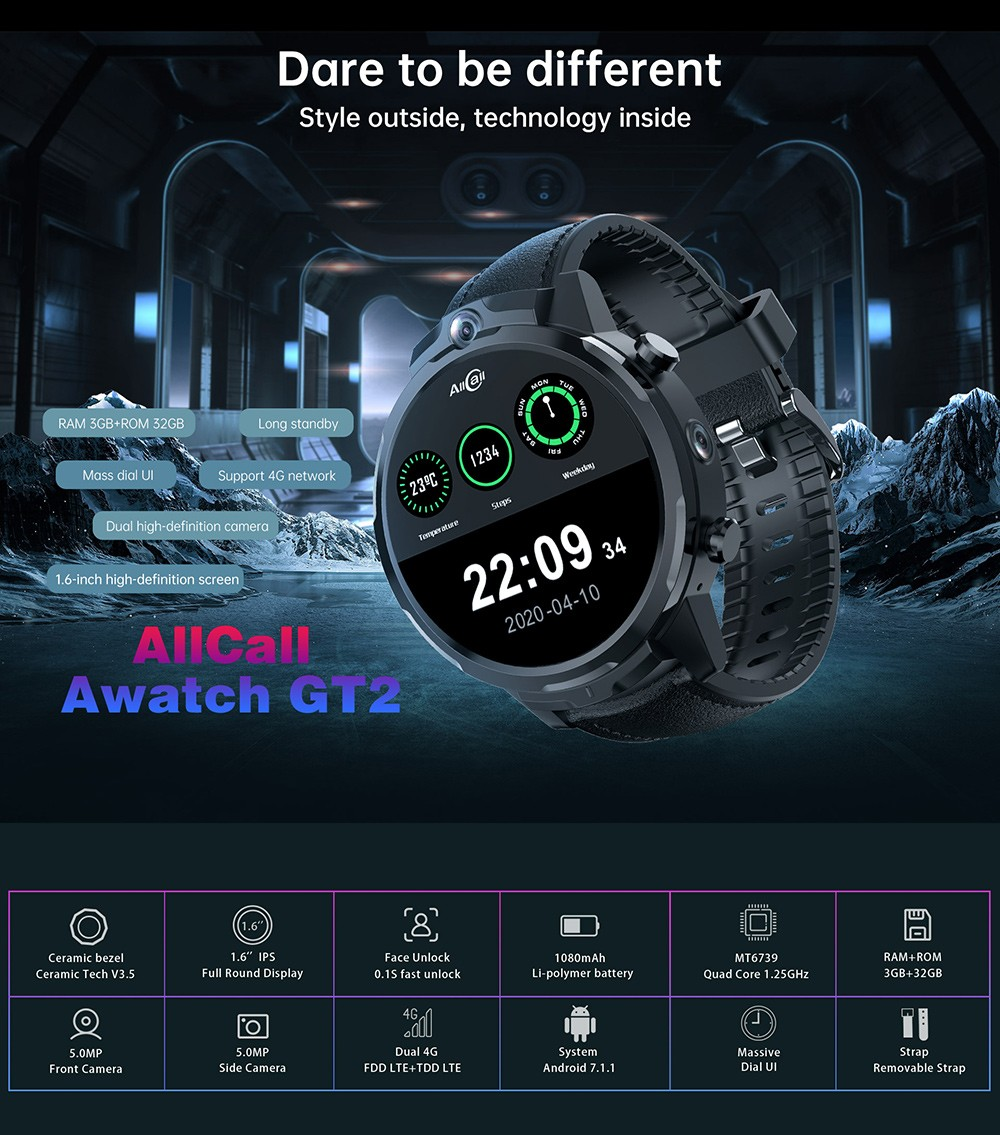 ALLCALL GT2 Watch Phone Main Features