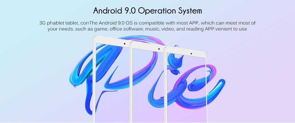 ALLDOCUBE iPlay8 Pro 8,0 hüvelykes 3G Phablet Android 9.0 MTK8321 1,3 GHz-es Quad Core CPU 2 GB RAM 32GB ROM 2.0MP kamera - Ezüst EU csatlakozó