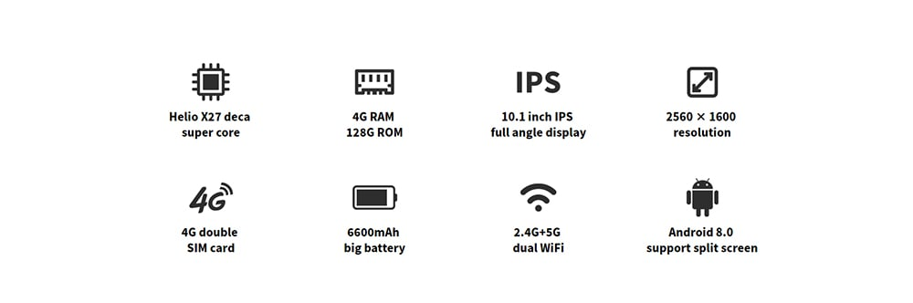 ALLDOCUBE M5X Pro 10,1 hüvelykes 4G Phablet 4GB / 128GB médiatabletta PC - ezüst