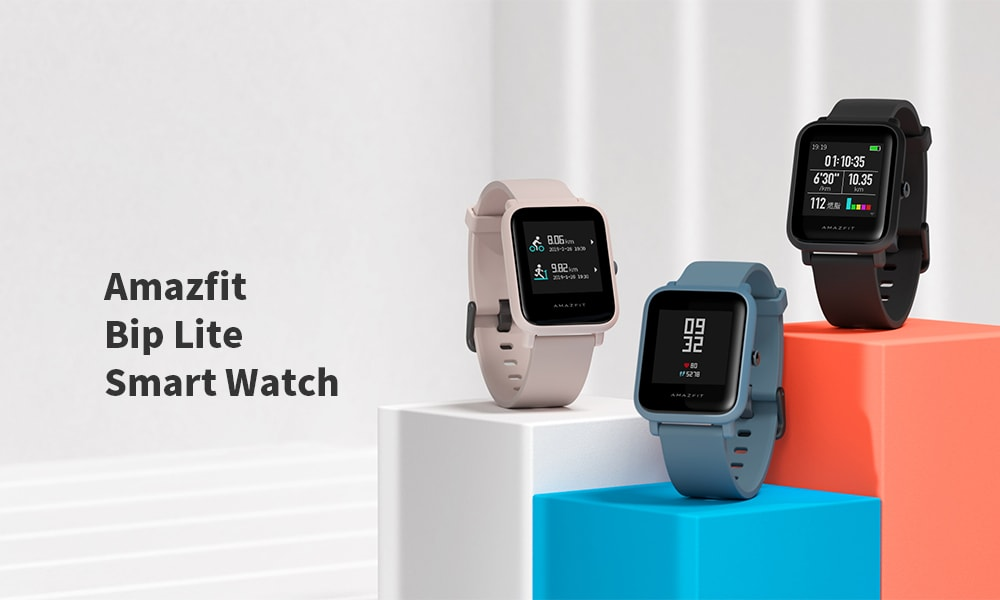 AMAZFIT Bip Lite Long Lasting Time / 3ATM Waterproof / Light Weight / Heart Rate Monitor Smart Watch ( Xiaomi Ecosystem Product )- Pink