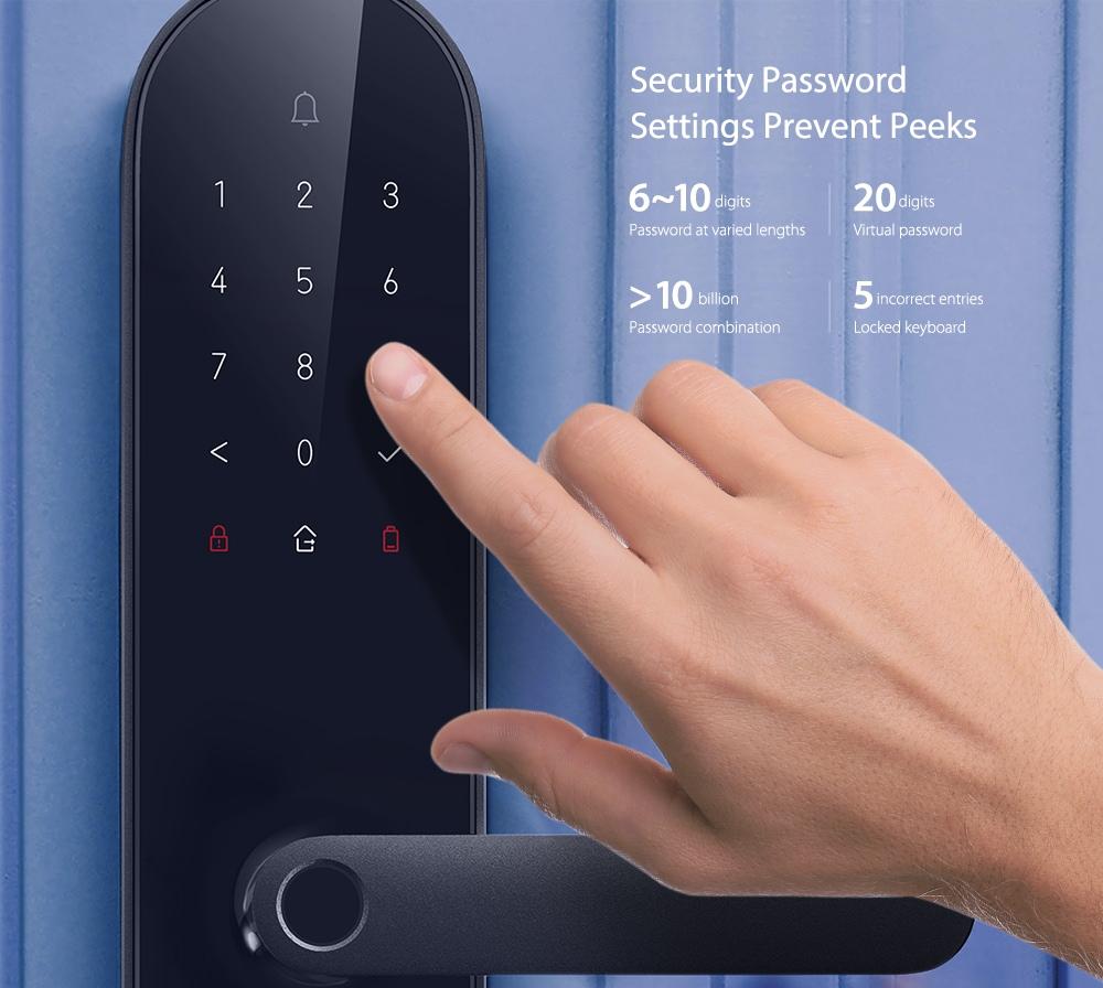 Aqara N100 intelligens ajtózár - fekete