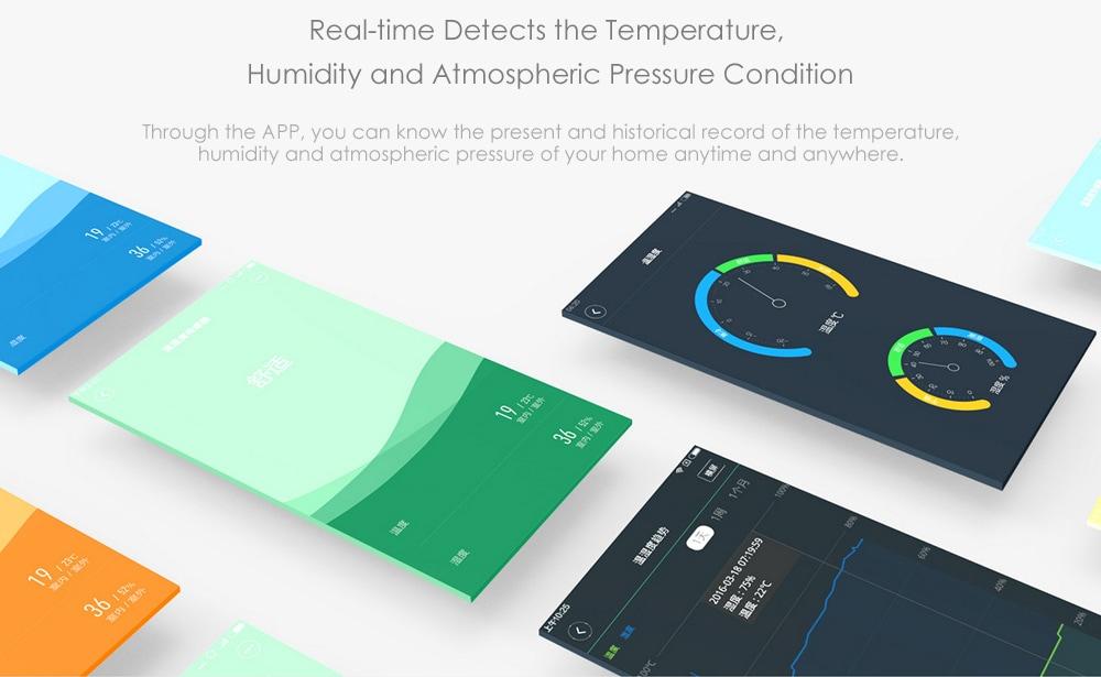 Aqara WSDCGQ11LM hőmérséklet páratartalom érzékelő intelligens otthoni eszköz (Xiaomi Ecosysterm termék) - fehér tej