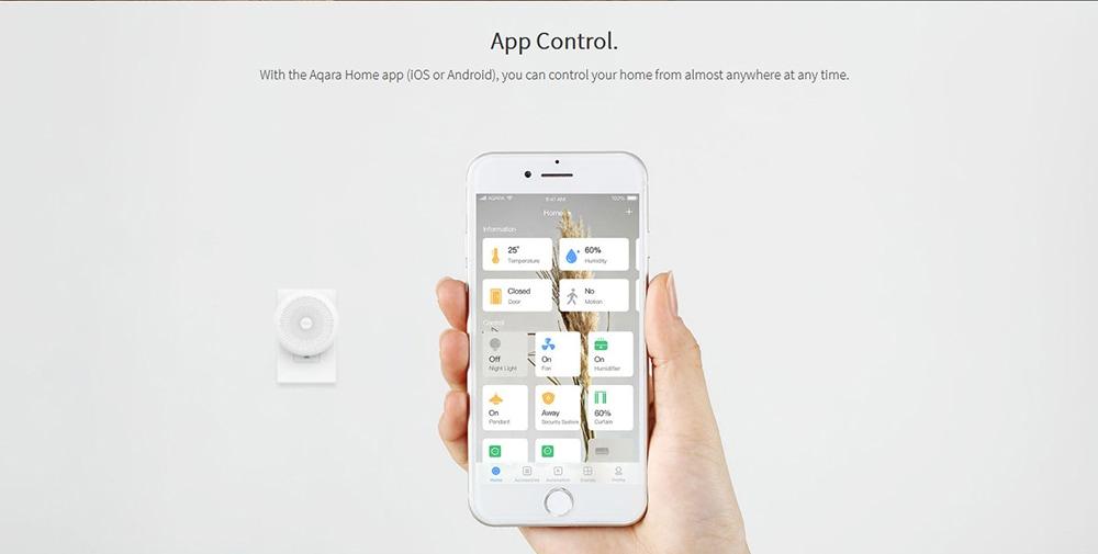 Aqara ZHWG11LM vezeték nélküli WiFi Zigbee intelligens átjáró otthoni automatizáláshoz HOMEKIT verzió (Xiaomi ökoszisztéma termék) - Fehér