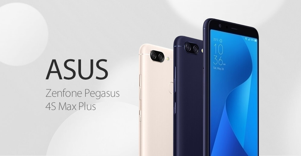 ASUS Pegasus 4S Max Plus ( X018DC ) 4G Phablet 5.7 inch Android 7.0 MTK 6750T Octa Core 1.5GHz 4GB RAM 64GB ROM 8.0MP Front Camera Fingerprint Sensor 4130mAh Built-in- Gold
