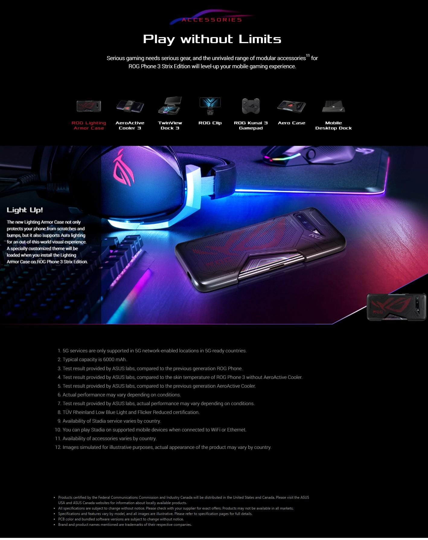 ASUS ROG Phone 3 Gaming 5G Smartphone Gaming