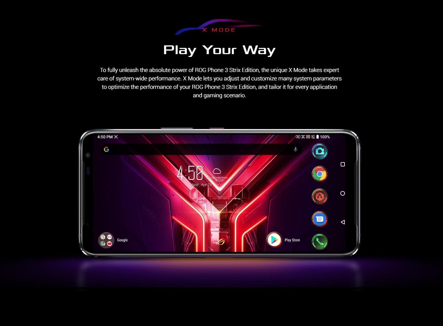 ASUS ROG Phone 3 Gaming 5G Smartphone Screen Size