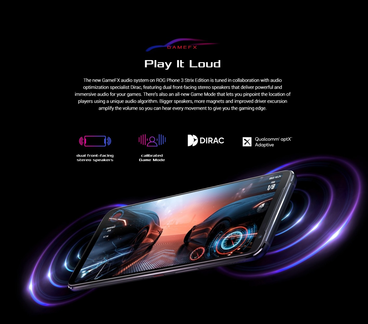 ASUS ROG Phone 3 Gaming 5G Smartphone Speaker