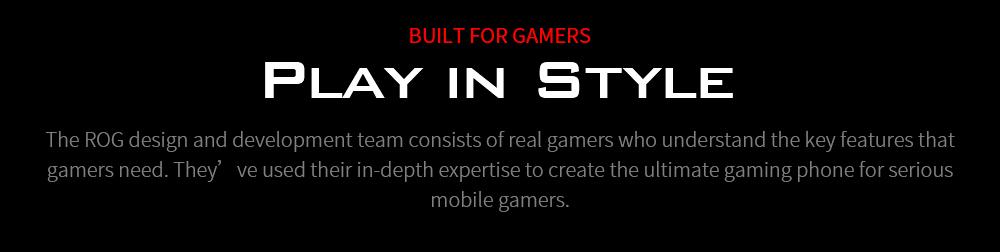 ASUS ROG Phone 3 Gaming 5G Smartphone BUILT FOR GAMERS