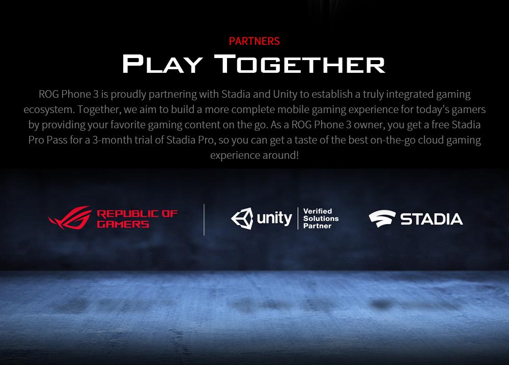 ASUS ROG Phone 3 Gaming 5G Smartphone PARTNERS