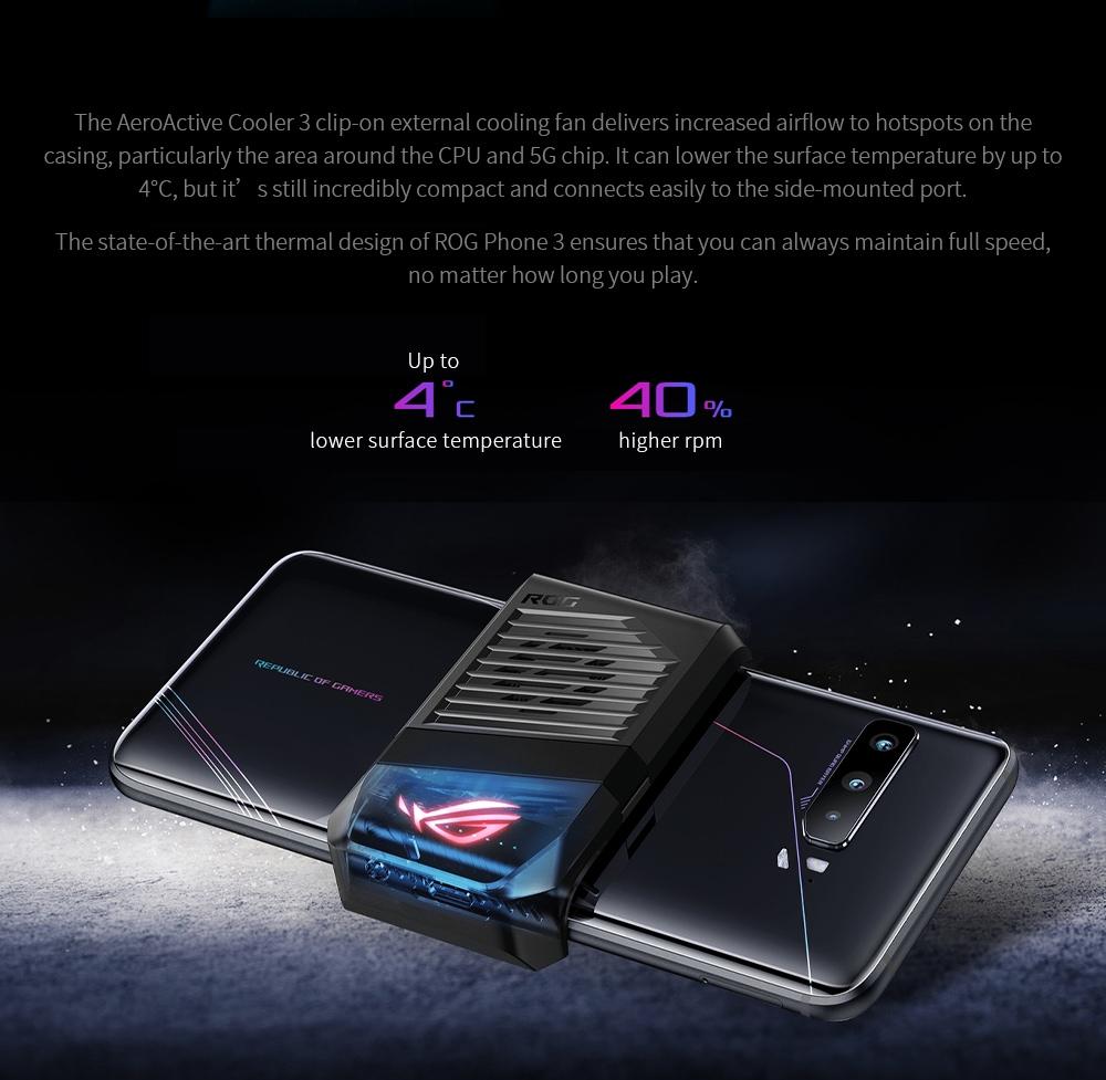 ASUS ROG Phone 3 Gaming 5G Smartphone AeroActive Cooler 3