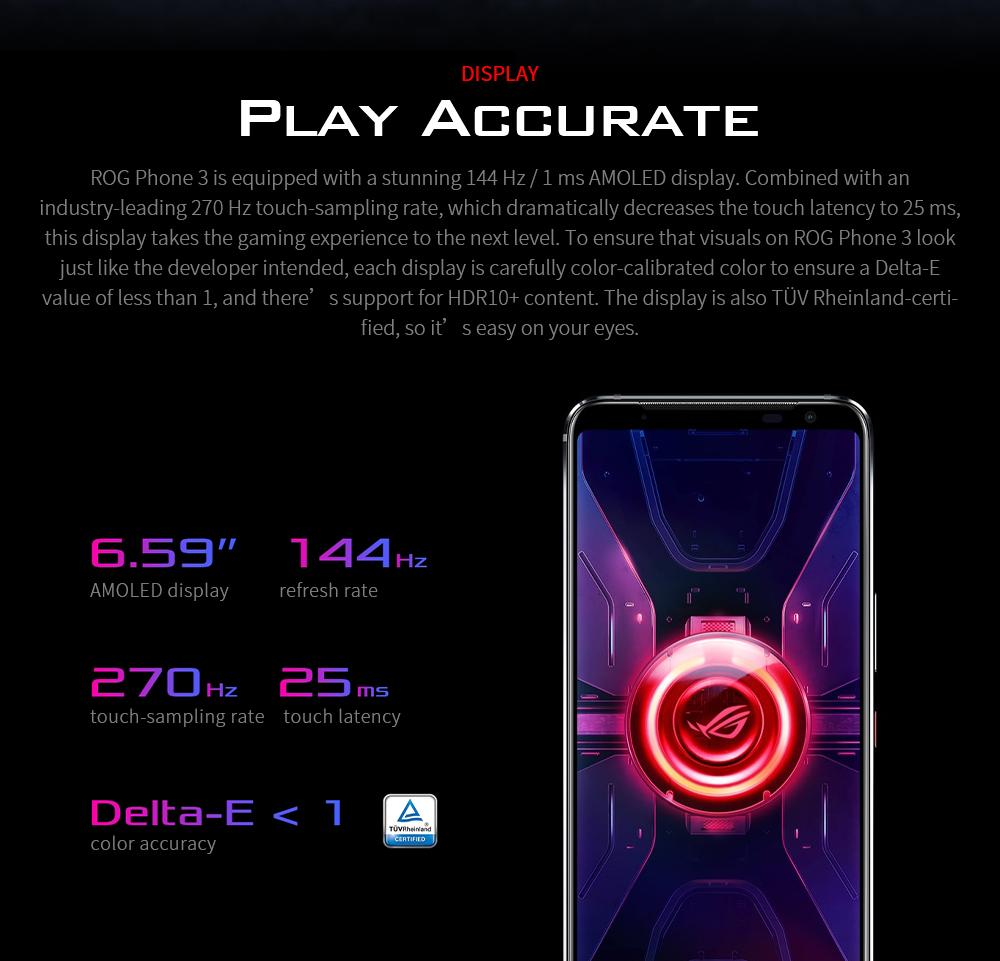 ASUS ROG Phone 3 Gaming 5G Smartphone DISPLAY