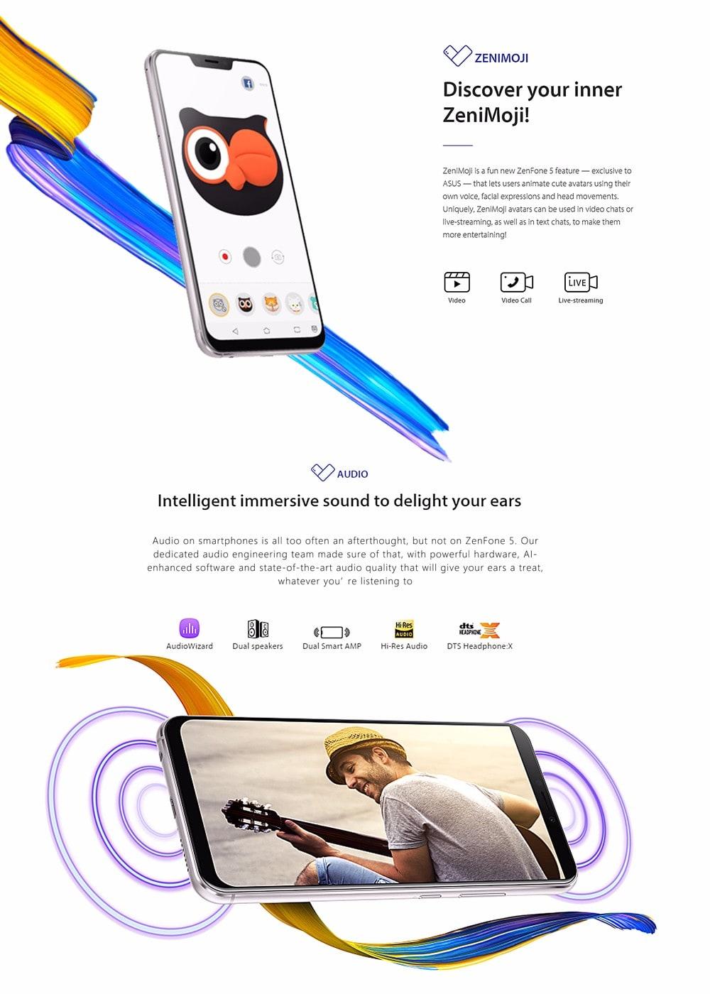 Asus ZENFONE 5 ZE620KL 4G okostelefon