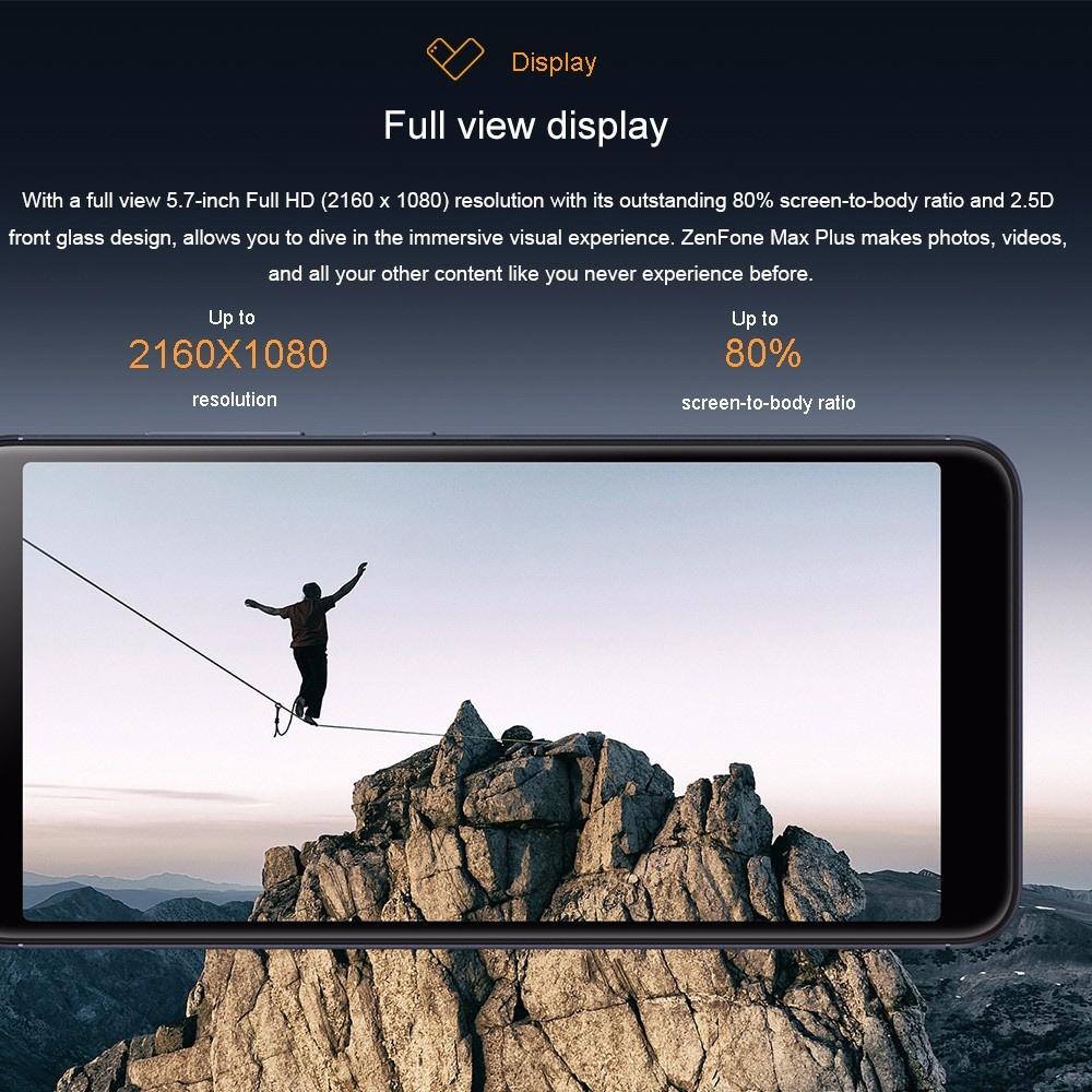 ASUS Zenfone Max Plus(ASUS_X018D/ZB570TL) 4+64GB US+EU adapter Black Global Version- Black US Plug (2-pin)