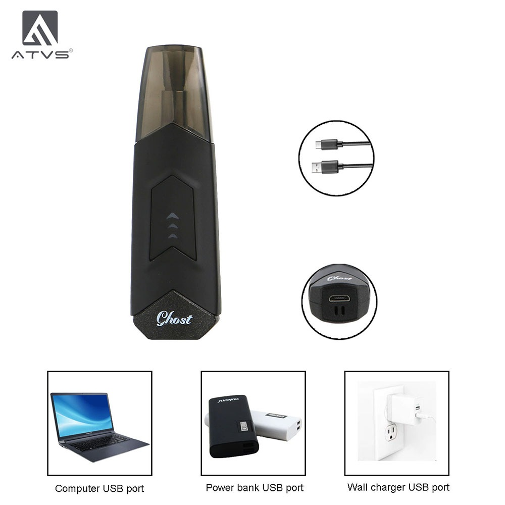 ATVS GHOST Kit 1.8ml 350mAh- Black