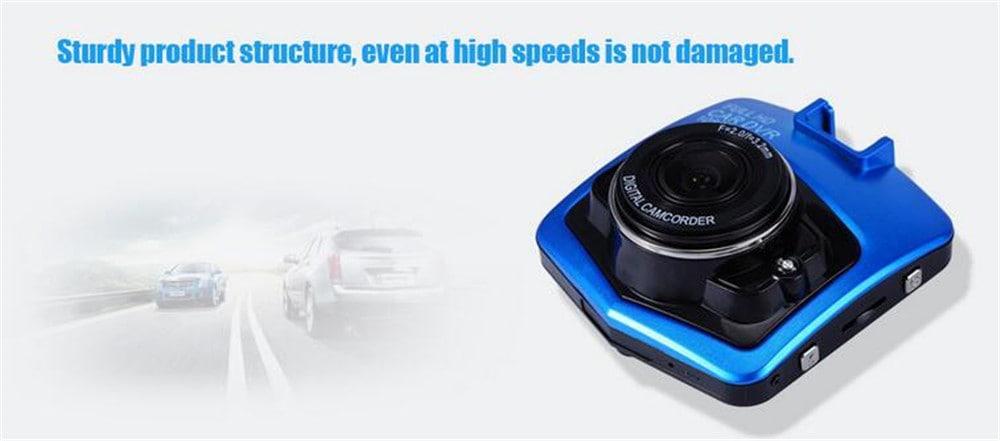 BALDR GT300 1080P 2,4 hüvelykes autó Dashcam videó felvevő - fekete