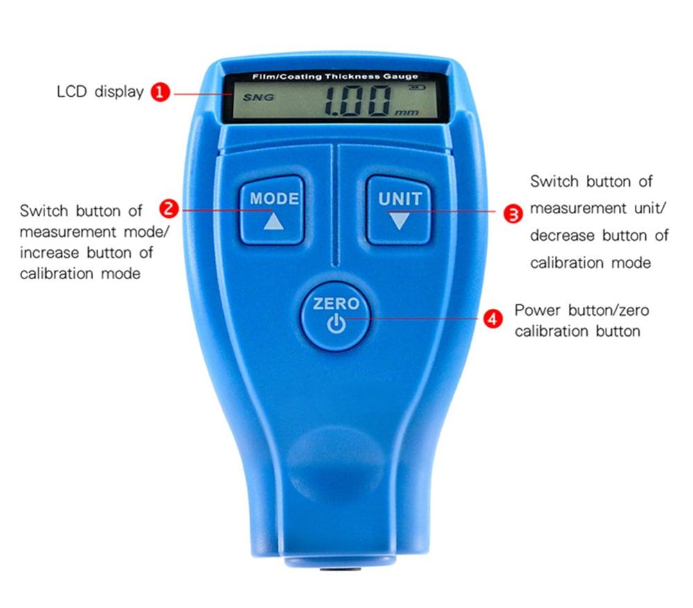 BENETECH GM200A mini bevonat vastagság gát festés vas alap film vastagság mérő - kék ruha