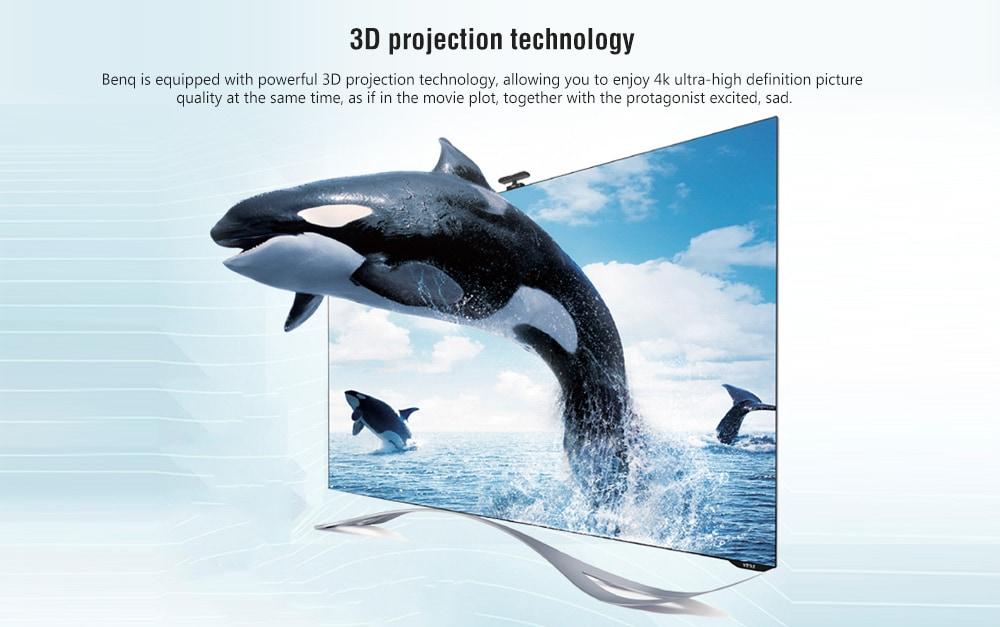 Benq TK800M 4K DLP házimozi projektor 3000 ANSI lumen / HDR / 3D / HDMI 2.0 + VGA + USB / Professzionális színes hangolás - Multi-A