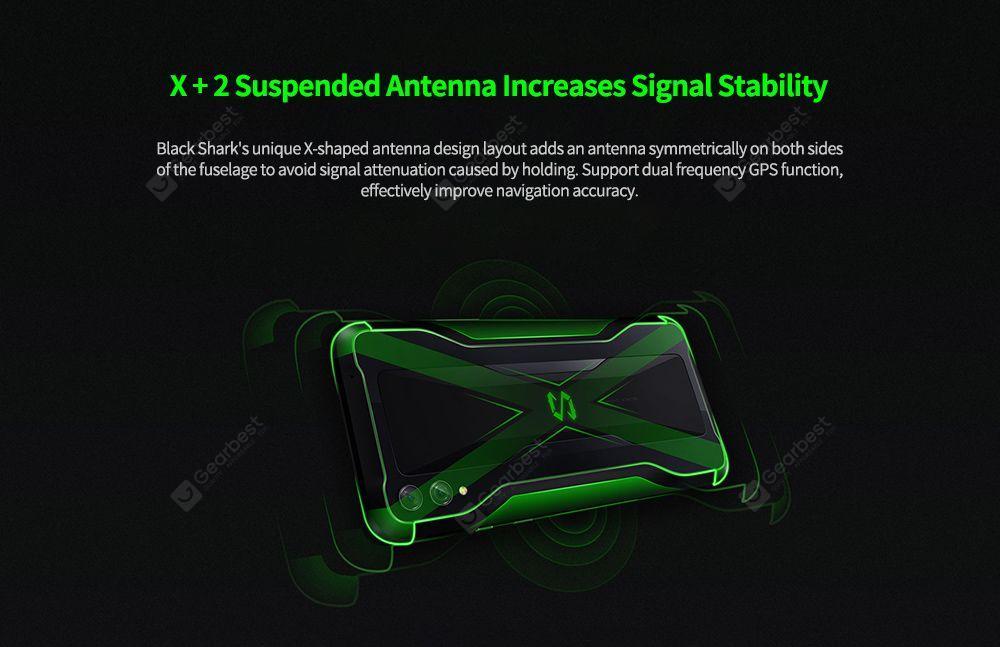 Black Shark 2 4G Gaming Smartphone - Blue 8GB+128GB EU Adapter