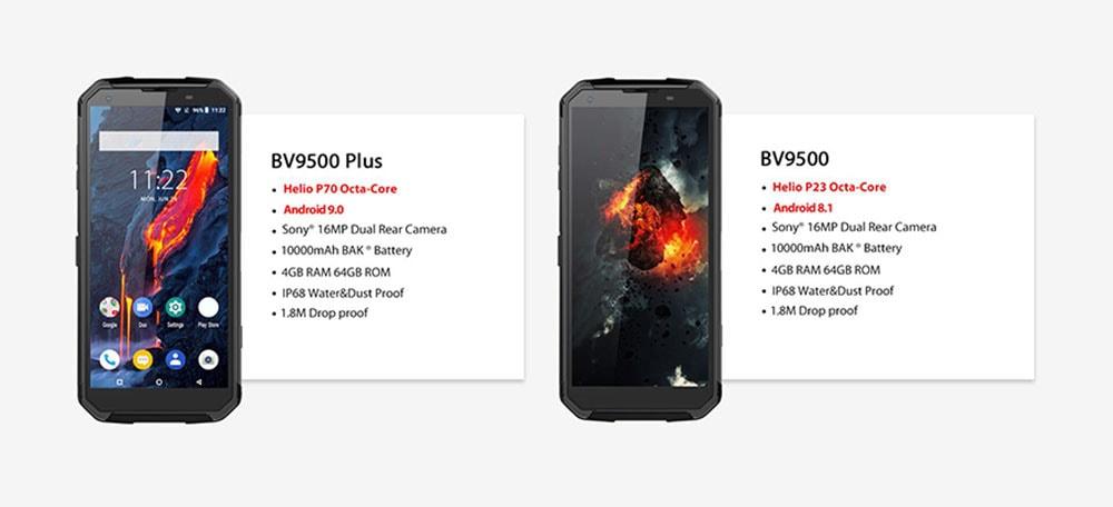 BlackView BV9500 Plus 4G Smartphone Global Version - Black EU Version