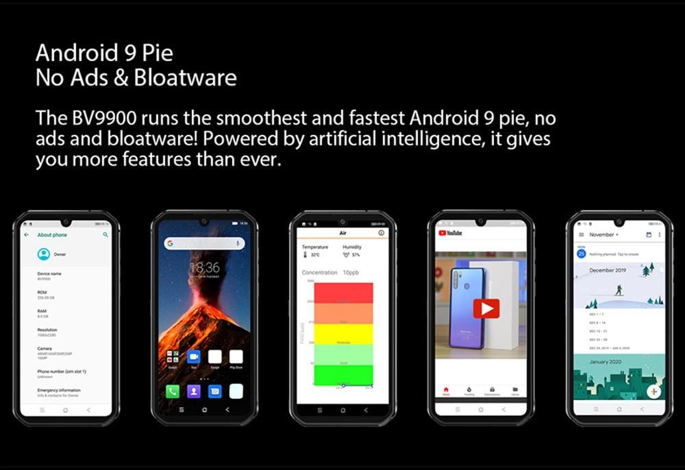 BlackView BV9900 4G Smartphone Global Version - Black Other Area