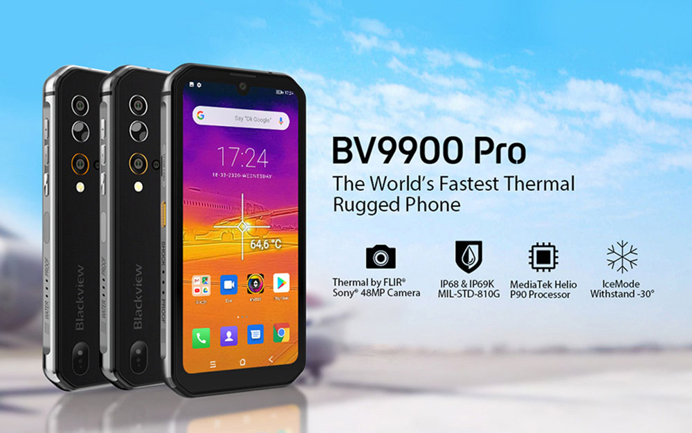 Blackview BV9900 Pro 4G Smartphone Global Version - Gray Other Area