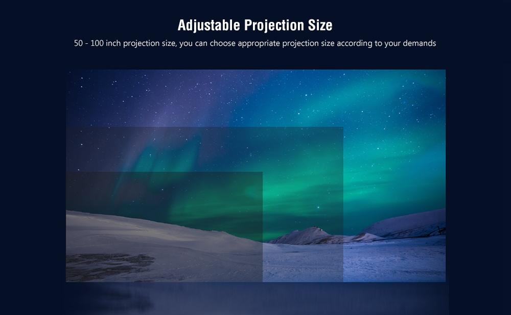 Cheerlux C8 LCD otthoni szórakoztató projektor 1280 x 720P támogatás 1080P / HDMI / VGA / USB / AV- Fehér EU csatlakozó
