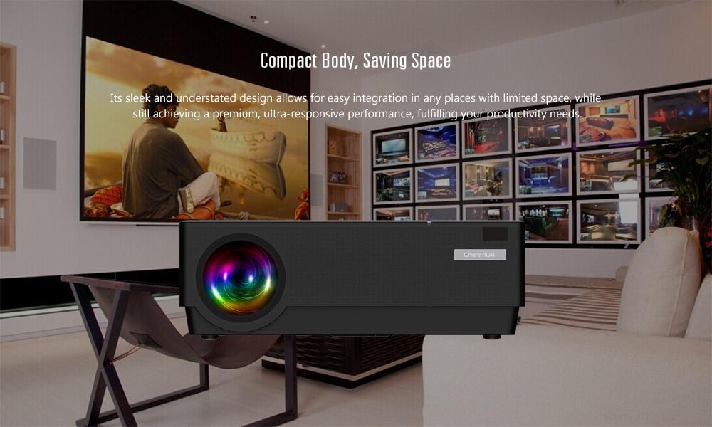 Cheerlux CL770 LCD házimozi projektor FHD 1080P / 4500lumens / HMDI + VGA + USB + AV- Fekete EU csatlakozó